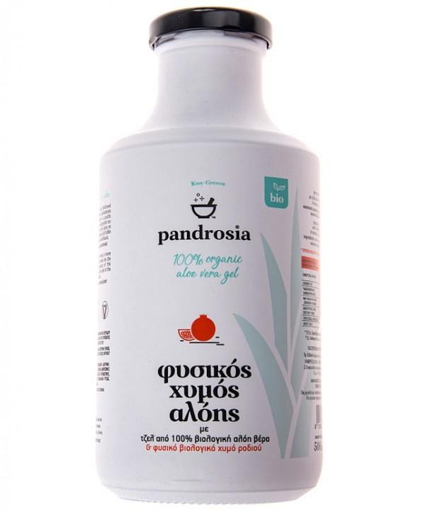 PANDROSIA -100% organic aloe vera juice with pomegranate